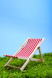 Beach chair. On the meadow Stock Image