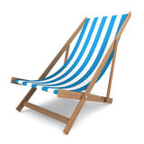Beach chair. 3d illustration on white background Royalty Free Stock Photos
