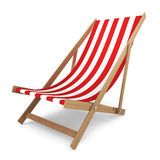 Beach chair. 3d illustration on white background Royalty Free Stock Image
