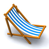 Beach chair 3d. Striped wood beach chair 3d Royalty Free Stock Photography