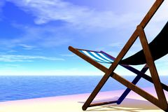 Beach chair. 3d render illustration of beach chair detail royalty free stock photo