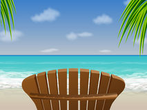 Beach chair/Adirondack Royalty Free Stock Photography