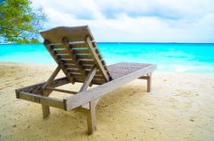 Beach Chair Adirondack Chair Beach Scene Royalty Free Stock Photography