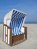 Beach chair at the Baltic Sea Royalty Free Stock Photography