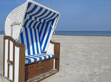 Beach chair at the Baltic Sea Stock Image