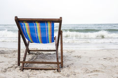 Beach chair on the beach Royalty Free Stock Images