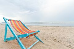 Beach chair on the beach. At thailand stock images