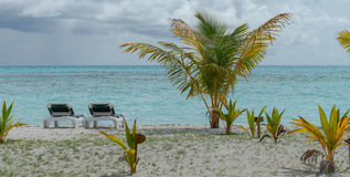 Beach Chair with beach views, Maldives. Royalty Free Stock Photography