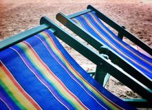 Beach. Chair beachbed seabed Royalty Free Stock Photo