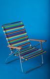 Beach chair in blue Stock Photography