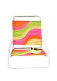 Beach chair with clipping path. Colorful beach chair with sun visor and sunglasses clipping path Stock Photo