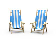 Beach Chair for Couples Royalty Free Stock Photography
