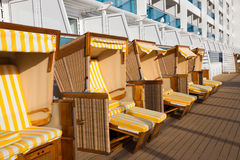 Beach chair cruise ship Stock Photos