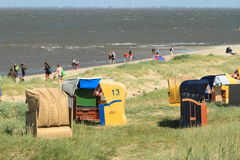 Beach Chair. Beach of Cuxhaven with Beach Chair royalty free stock photos