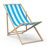 The beach chair. 3d generated picture of a blue beach chair Royalty Free Stock Photography
