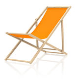 The beach chair. 3d generated picture of an orange beach chair Royalty Free Stock Image
