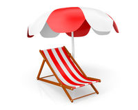 Beach Chair Stock Photo