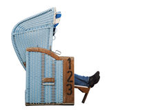 Beach Chair with feets side Stock Photography