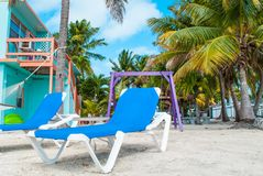 Beach Chair. In the Florida Keys Stock Images