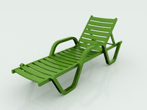 Beach chair green rendered Royalty Free Stock Photography