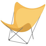 Beach chair icon in, an white background Stock Images