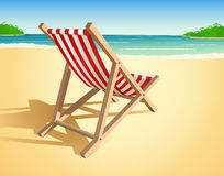 Beach chair illustration Stock Image