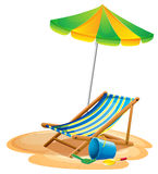 Beach chair stock illustration