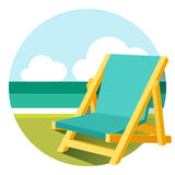 Beach chair illustration Royalty Free Stock Images