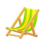 Beach chair illustration Stock Images