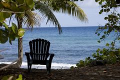 Beach chair island view Royalty Free Stock Photography