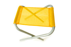 Beach chair isolated. On the white background Stock Images