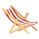 beach chair isolated icon Stock Images