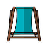 Beach chair isolated icon Stock Photography