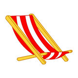 Beach Chair isolated illustration Royalty Free Stock Images