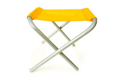 Beach chair isolated on the white. Background Stock Photos