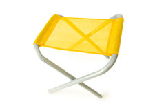 Beach chair isolated on the white. Background Stock Image