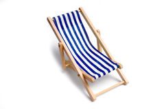 Beach chair. Isolated on white royalty free stock images
