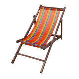 Beach chair. Isolated on white background stock photo