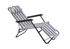 Beach chair isolated. On white background Royalty Free Stock Image