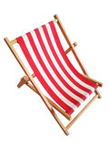 Beach chair isolated on white Royalty Free Stock Image