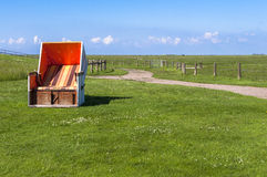 Beach Chair on Langeness Stock Image