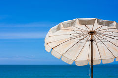 Beach chair look around the sea view Stock Images