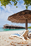 Beach chair in Maldives Stock Photography