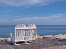 Beach chair Montego Bay Jamaica royalty free stock photo
