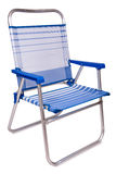 Beach chair. Multicolor beach chair isolated on white background royalty free stock image