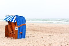 Beach chair in northern germany Royalty Free Stock Image