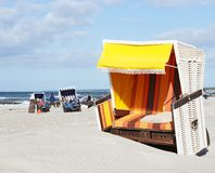 Beach-chair at the ocean - Summer Royalty Free Stock Photos