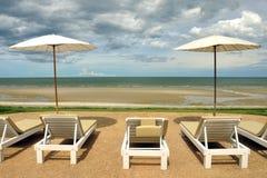 Beach Chair On The Beach Royalty Free Stock Photos