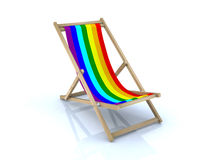 Beach chair with peace flag Stock Photography