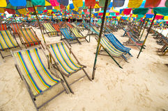 Beach chair , Phuket Thailand Royalty Free Stock Photo